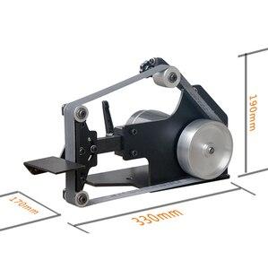 Image 4 - 220V Masaüstü zımpara kayışı tezgahı DIY Ahşap parlatma makinesi 0 7500RPM 762x25MM Kemer makinesi Y