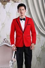Red costume homme fashion latest coat pant designs mariage men groom wedding suits for men's blazers men suit mens prom suits