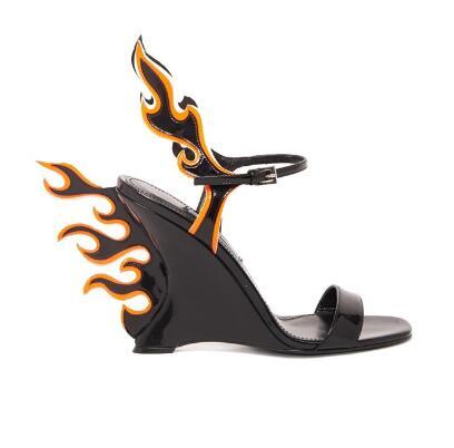 Étrange La Spartiates Femme Compensées Bout Flamme Bride Motif as Pictures Mode Ouvert À D'été Pictures Moraima Sandale As Chaussures Talons Sandales Pour Cheville Snc 7AHYE