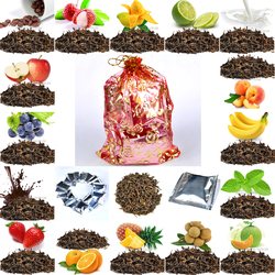 Gifts bag 16 kinds flavor puerh tea peach grape milk mango orange leom chocolate mint flavor.jpg 250x250