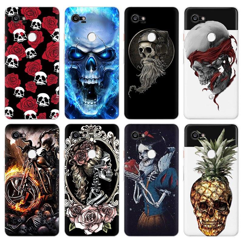 Us 16 14 Offfashion Skull Art Phone Case For Google Nexus 6p Capa For Google Pixel 2 Xl Cover Soft Silicon Coque For Google Pixel 3 Xl Cases In