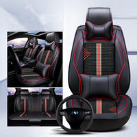KKYSYELVA Leather car seat covers Universal automotive seat cushion cover Interior Accessories car styling for ford toyota