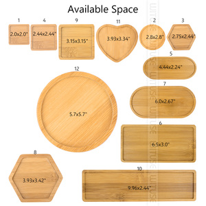 Image 3 - Natural Bamboo Round Square Bowls Plates for Ceramic Succulents Flower Pots Trays Base Garden Decor Home Decoration Crafts