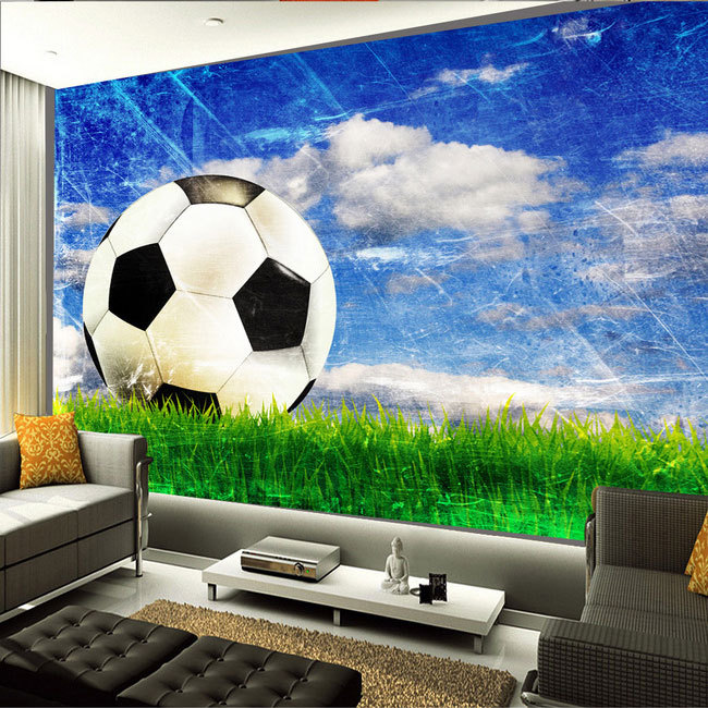Aliexpress.com : Buy Large Mural Living Room Bedroom Study Paper Soccer  Sports Style 3D Wallpaper Mural From Reliable 3d Wallpaper Murals Suppliers  On ...
