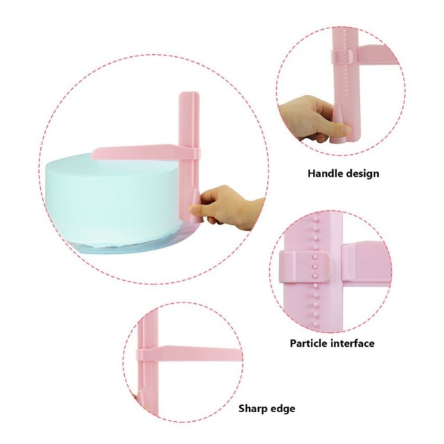 Cake Scraper Smoother Adjustable Fondant Spatulas Cake Edge Smoother Cream Leveling Device DIY Baking Tools Cakes Pastry Spatula