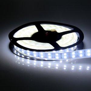 Image 2 - DC12v 120leds/m RGB Led Strip 5050 5m/reel Double Row Warm White/White Led Tape Light Waterproof/Non waterproof