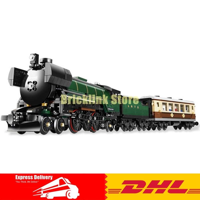 In-Stock LEPIN 21005 1085Pcs Technic Series Emerald Night Train Model Building Kits Block Bricks Children Toys 10194