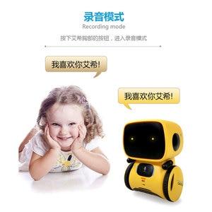 Image 5 - 귀여운 춤 스마트 로봇 프로그래밍 대화 형 액션 그림 지능형 Robotica 장난감 로봇 제스처 아이 생일 선물