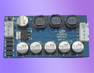 LED RGB constant current driver;DC24V input;RGB*2*3W/640ma output;size:60*30*10mm;P/N:AT2261