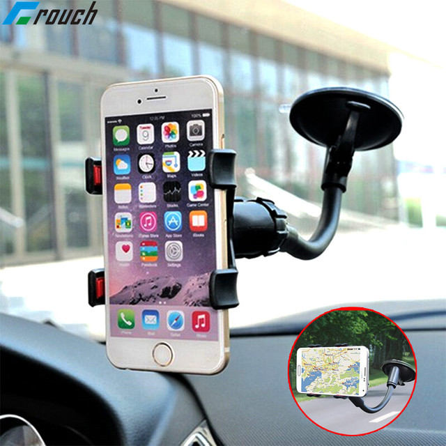 Crouch Car Phone Holder Flexible 360 Degree Adjustable Support GPS Car Mount Mobile Phone Holder For Smartphone 3.5-6 inch