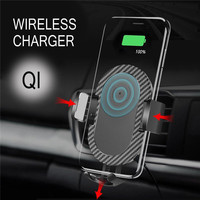 New Car Holder Charger Qi Wireless Fast Car Charger Mount Air Vent Holder For IPhone X