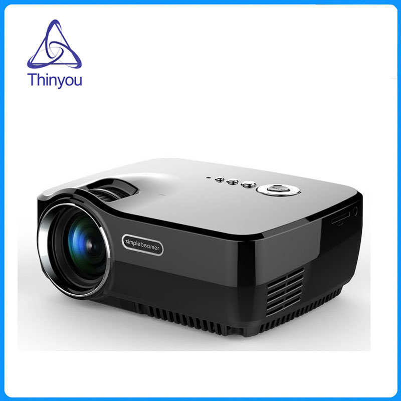 Thinyou New Multimedia Player LED Full HD Portable Mini Proyector Home Theater LCD Game Projector AV/VGA/SD/USB/HDMI mini portable multimedia player dvd player home theater projector led proyector