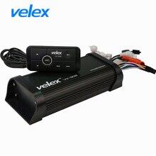 Amplificateur étanche Bluetooth, Marine avec USB, AUX, Audio, diffusion de musique, charge par téléphone intelligent pour UTV ATV, bateau, moto