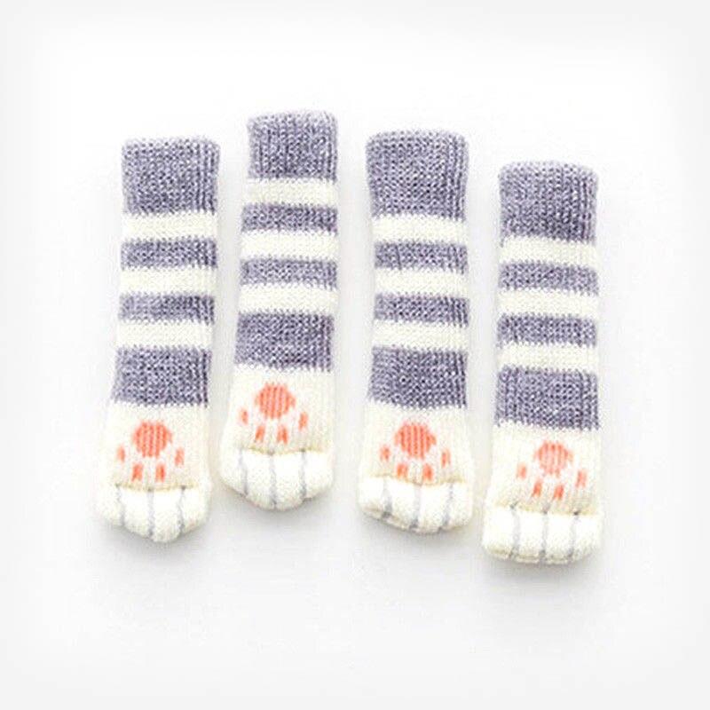 4Pcs Furniture Chair Leg Cover Pad Anti-slip Floor Knitting Sock Table Feet Mat GQ999