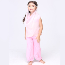 Direct Selling Pink Arabian Princess Cosplay Clothing Child Fantasy Fancy Dress Kids Carnival Party Halloween Costume