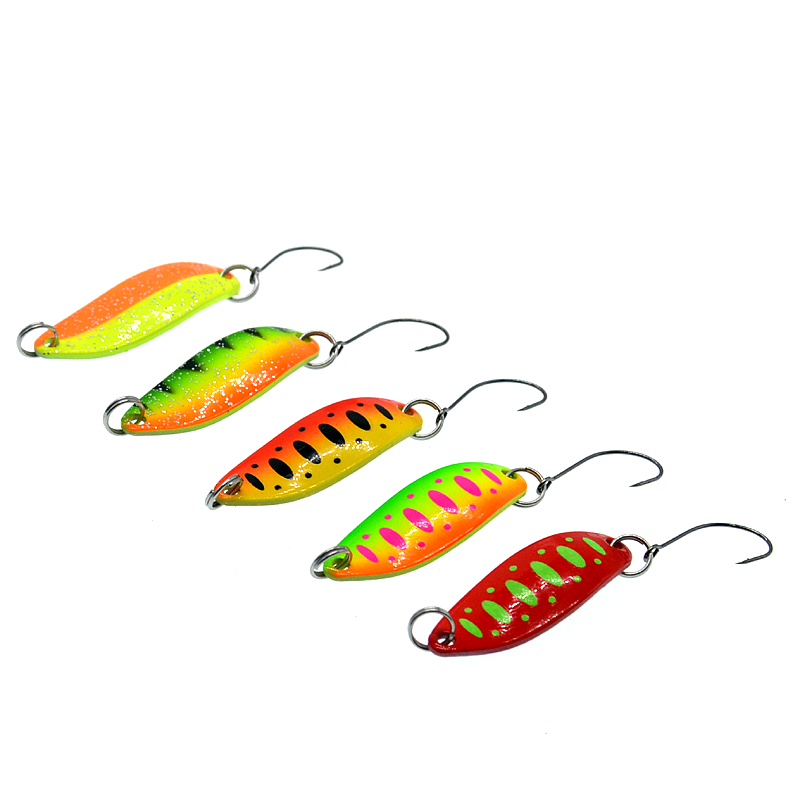 Image 4 - 5Pcs Spoon  3.5g Single Hook Multicolor Metal Spoon stream Fishing Lures Trout-in Fishing Lures from Sports & Entertainment