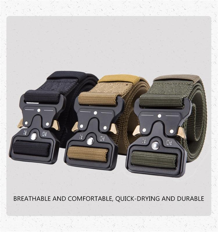 FRALU Tactical Belt Military Nylon Outdoor multifunctional Training High Quality Strap Sadoun Sales International