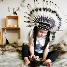TIMPOMA Child photographing cute Indian headdress baby