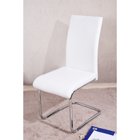 Chrome Dining Chair Modern Metal Dining Room Furniture Contemporary PU Cushion HOT SALE