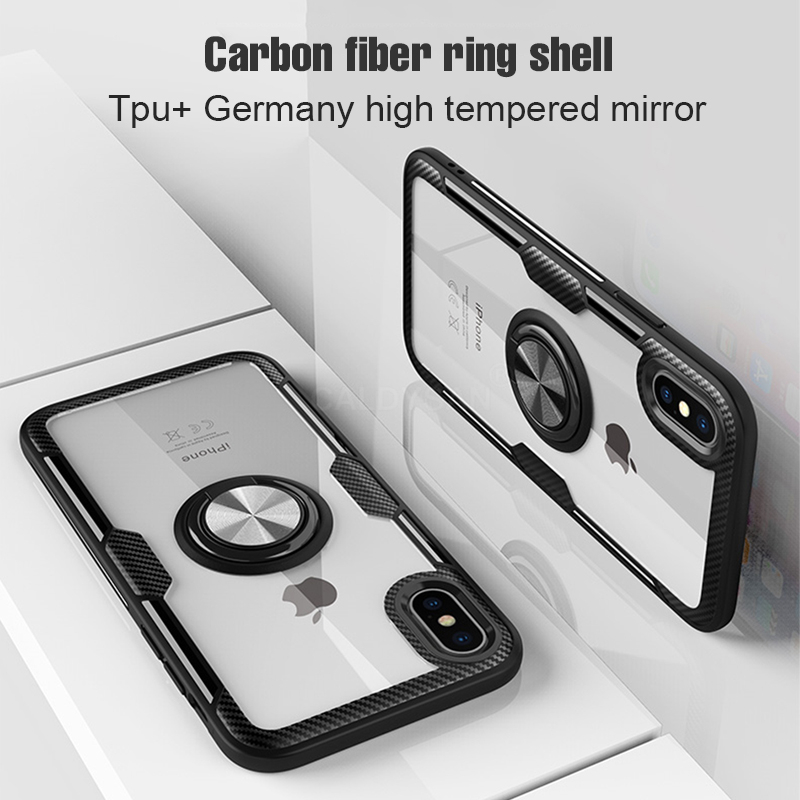 luxury bumper case and car holder ring case for iphone xs max xr x