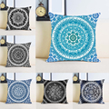 Custom Mandala Pattern Prints Unique Print Cushion Cover Invisible Zippered Twin Sides Home Decorative Art