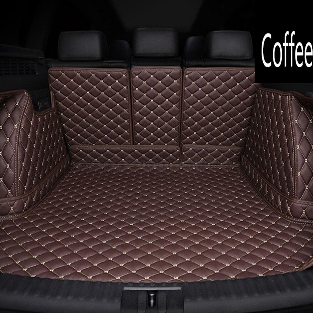 Custom fit Car trunk mats cargo Liner special for Audi A6 S6 C5 C6 C7 Allroad Avant 6D car styling rugs carpet floor liners(1997
