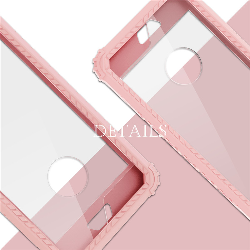 For iPhone X/XS/XS MAX/XR/iPhone 8/8plus/iPhone 7/7plus Phone flat Half-wrapped TPU+PC 2 in 1 Anti-drop Mobile Cover
