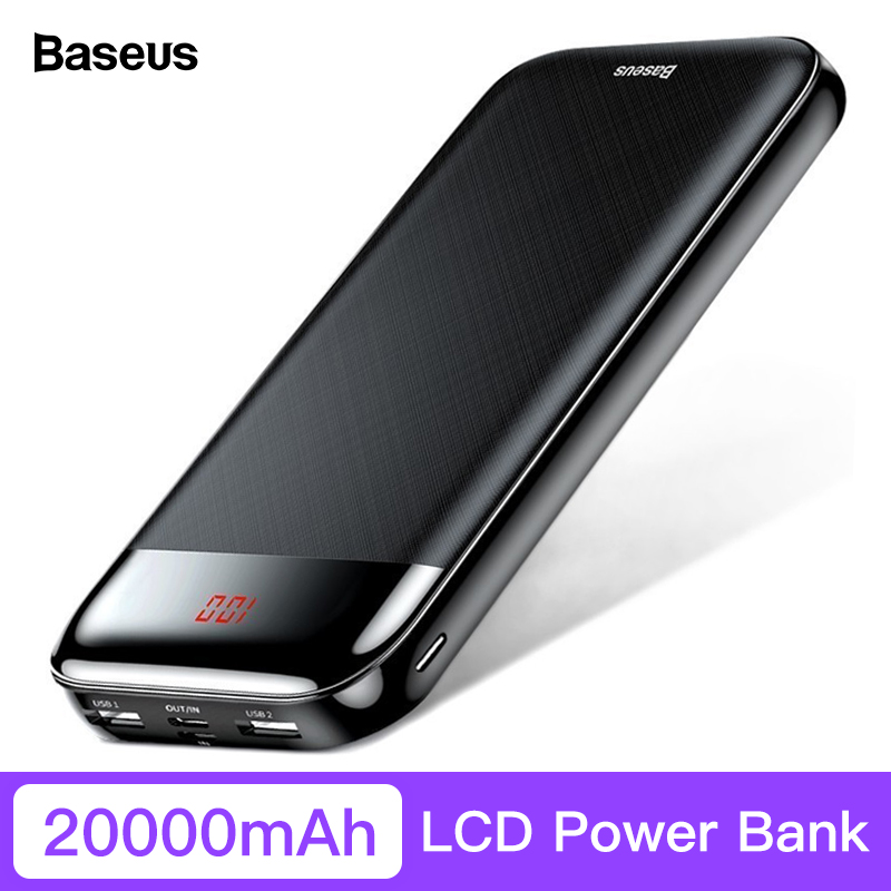 Baseus 20000 mAh Power Bank Für iPhone Xiaomi Tragbare LCD Power Externe Batterie Pack USB Typ C PD Schnelle Lade poverbank