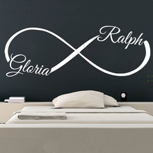 Wall Decals Infinity Custom Personalized Name Sticker Vinyl Poster Mural Love Symbol BedRoom Decoration W322
