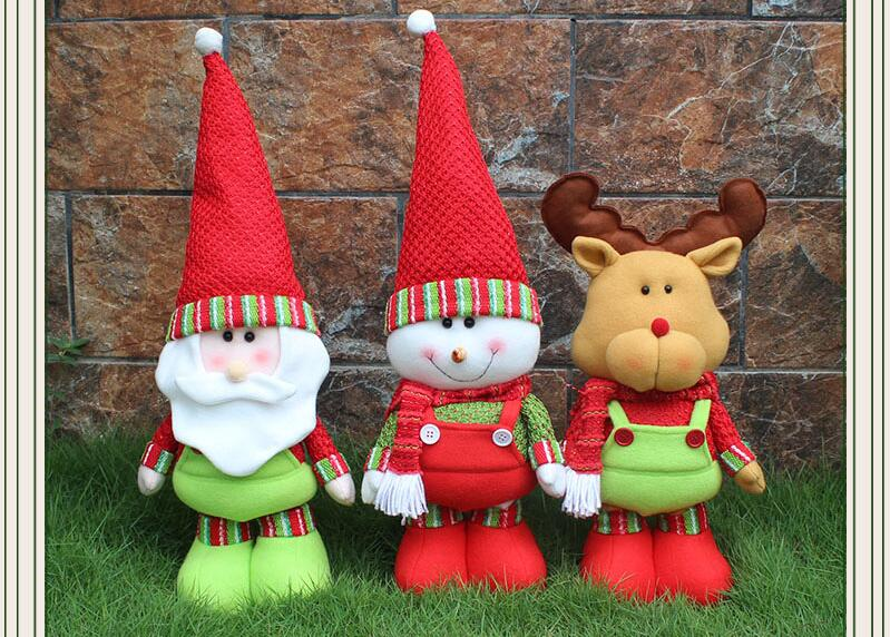 Christmas Ornament Gifts Cute Santa Claus Doll kids baby cartoon plush Toys new year Decoration Festive & Party Supplies