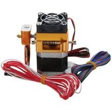 3D Головка Принтера MK8 Экструдер j-глава Hotend Насадка 0.4 мм Корма Входе Диаметр 1.75 Нити Дополнительные Сопла + 1 м кабеля двигателя