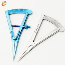 Eye ophthalmic gauge Cosmetic surgery instruments Double-fold eyelid tool. makeup scissor ophthalmic microsurgical instruments surgical autoclavable surgery silicone disinfection box cosmetic makeup tool