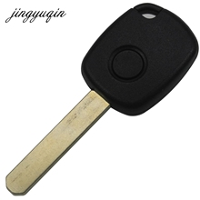 jingyuqin 1 Button Remote Key Case for Honda CR-V Odyssey Fit,City C-ivic accord with Button Pad