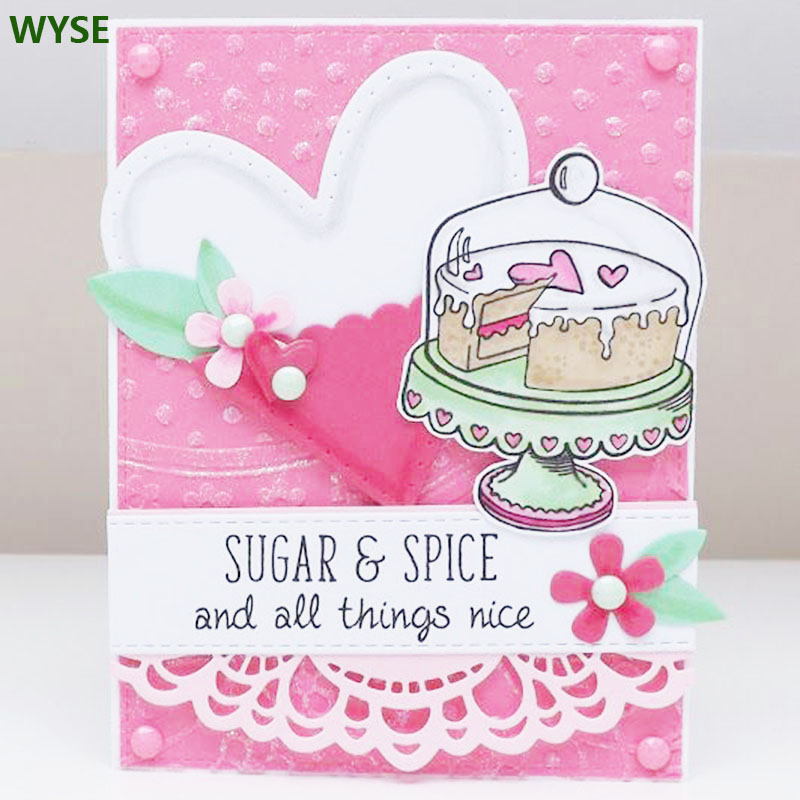 Birthday Cake Rubber Stamps