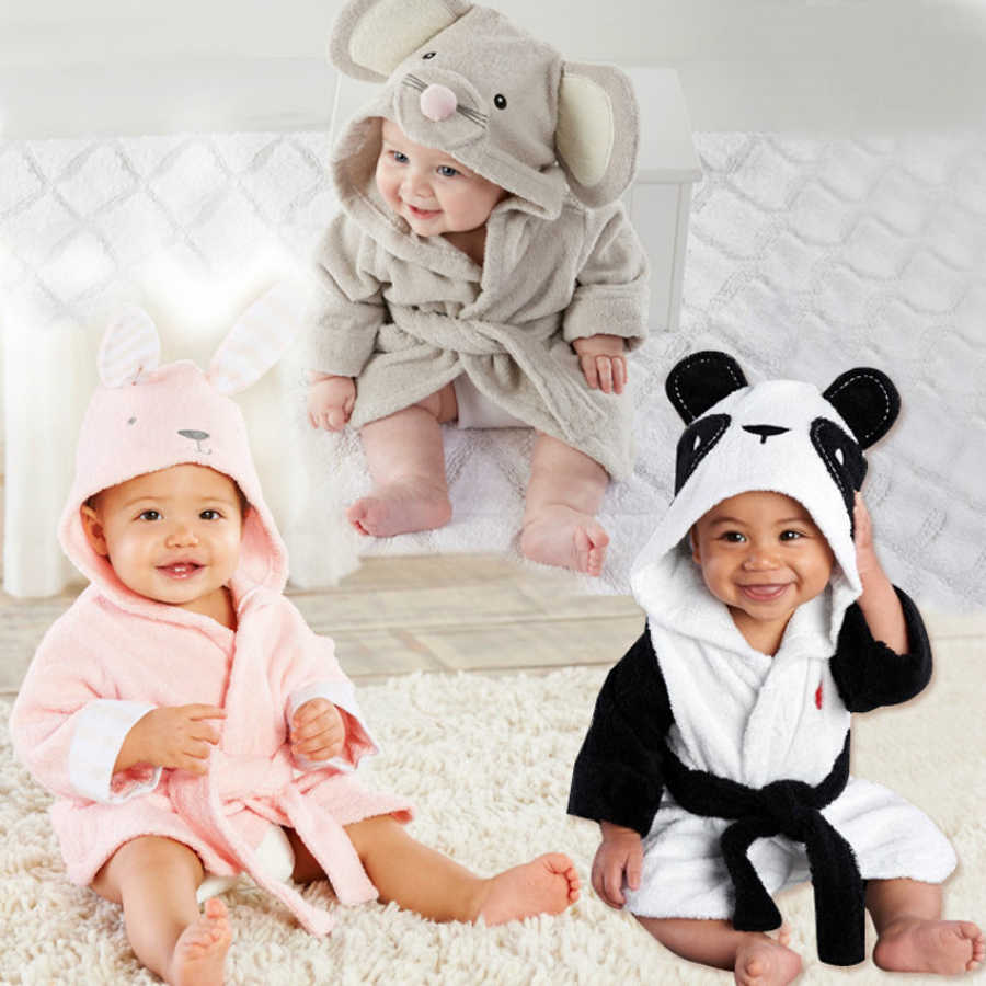 New Baby Bathrobe towel Children's Clothing Boys Girls Soft Velvet Robes Pajamas Coral newborn Clothes kids Bathrobes pink grey