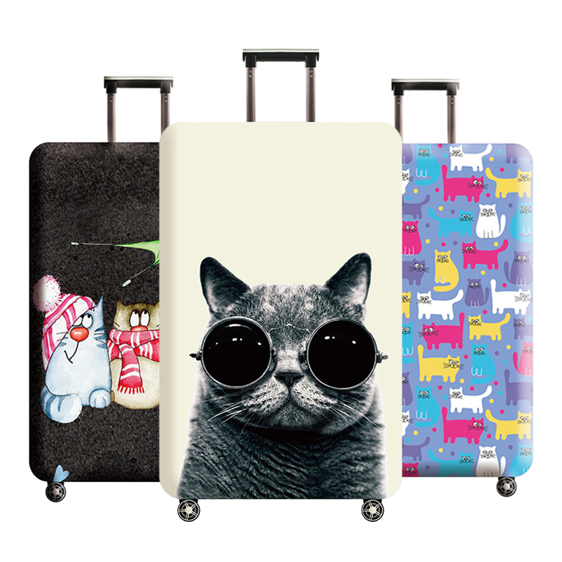 Luggage Protector Cover Suitcase Elastic Protective Cover Trolley Case Dust Cover For 18-32 Inch Traveling Accessories On Road