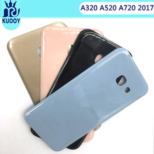 Rear A3 A5 A7 Battery Back Glass Cover For Samsung Galaxy A320 A520 A720 2017 Back Housing Door Battery Case With Sticker