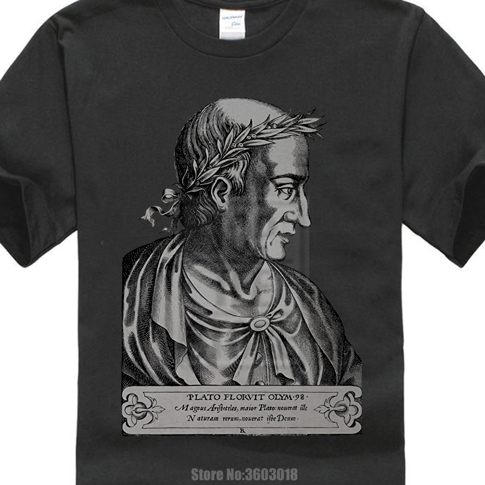 Tops Summer Cool Funny T Shirt Crew Neck Men Short Sleeve Plato Philosophy Teacher Gift T Shirt Greek Philosopher Tees