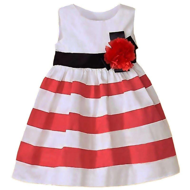 Платья красные в горох детские