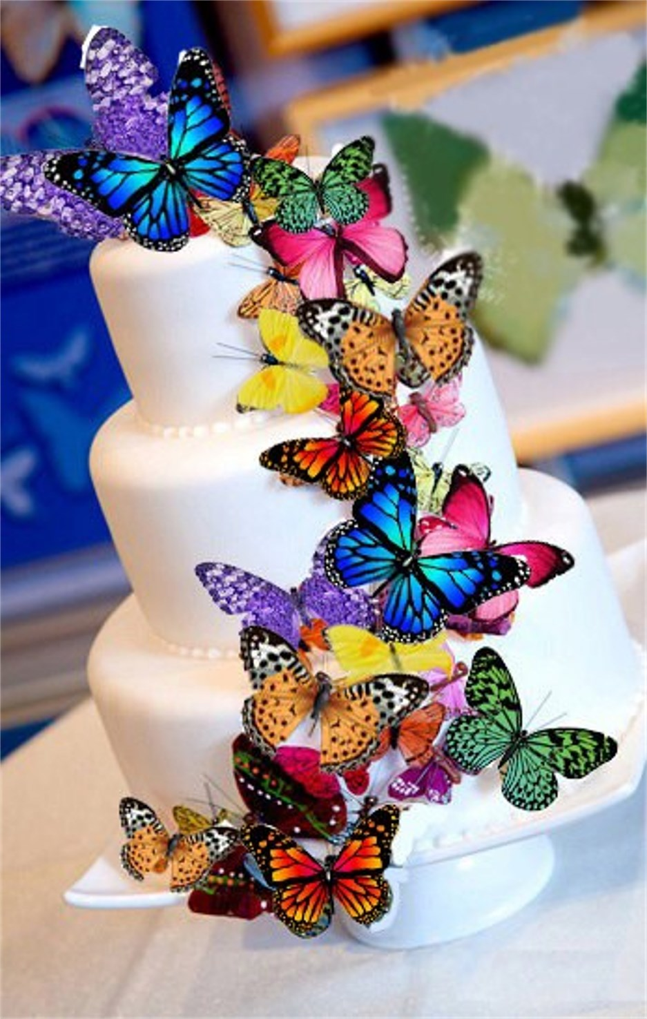 Cake Decorations Edible Photos : Aliexpress.com : Buy Big mixed Butterfly Edible cake ...