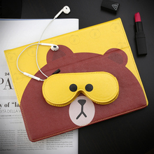 Cute Bear Smart PU Leather Case Flip Cover For Apple iPad Air Air2 Mini 1 2 3 4 Tablet Case Protective Bag Skin+storage bag GD