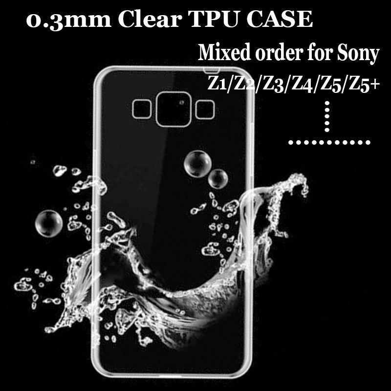 500 шт. для sony XA2 ультра z1/z2/z3/z4/z5/z5 premium/z3 mini ТПУ чехол 0,3 мм ультра тонкий ТПУ Crystal clear CASE кожи
