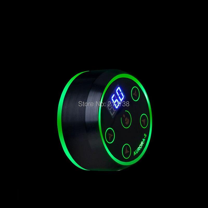 Nouvelle Mini alimentation électrique professionnelle de tatouage d'aurora II LCD avec l'adaptateur de puissance pour des Machines de tatouage de bobine et rotatives - 6