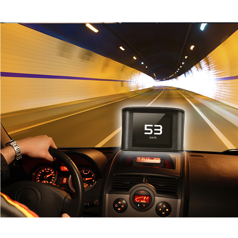 P10 カー Hud ヘッドアップディスプレイ OBD2 EUOBD 自動速度超過警告システムプロジェクターフロントガラスデジタルスピードメーター表示アラーム  グループ上の 自動車 &バイク からの ヘッドアップディスプレイ の中 1
