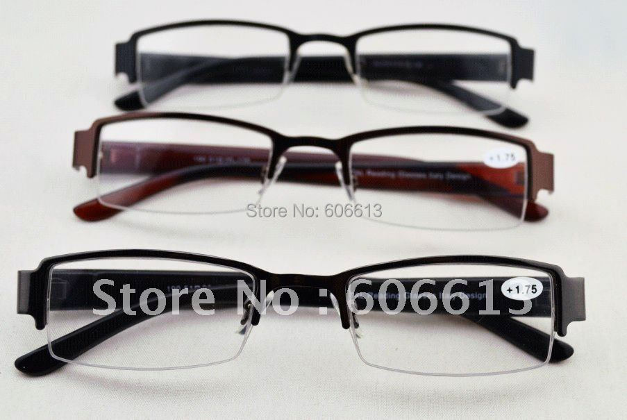 whole sale big discount crystal reading glasses italy design half frame eyewear reader 24pcslot free shipping