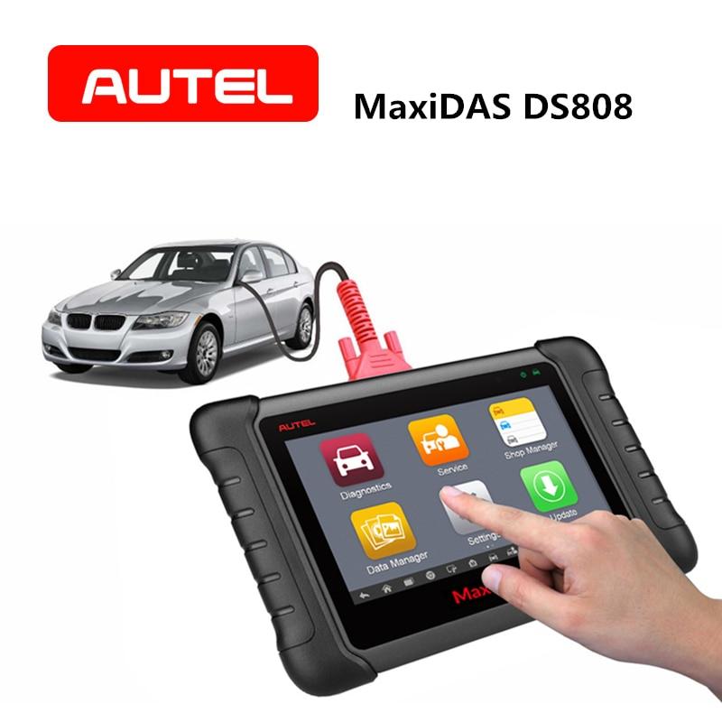 AUTEL MaxiDAS DS808 OBD2 Car Diagnostic Tool Scanner Key Programming ECU coding vehicle Auto ABS SRS Code Reader PK DS708 MS906