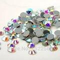 2058HF Crystal AB Hot Fix Piedras Cristales Todos Los Tamaños SS6-SS16-SS20 Flatback Piedras Strass Hierro Rhinestone Para La Ropa piedras y cristales para manualidades abalorios para coser