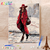 Oil Painting Paint By Numbers Diy Canvas Wall Decor Hand Painted Picture Printed Drawing Coloring By