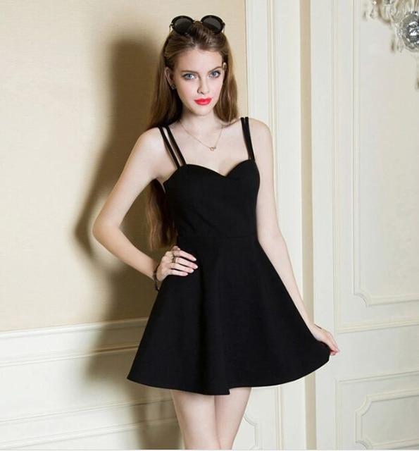 078f0e618fd 2015 ladies black sexy spaghetti strap bodycon dress best designer one piece  dress