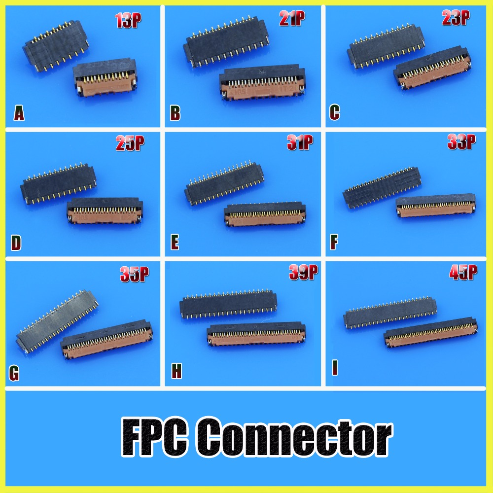 JCD FPC Connector FH26 Series 0.3 Pitch 13/21/25/31/35/39/41/45/51/61 Pin